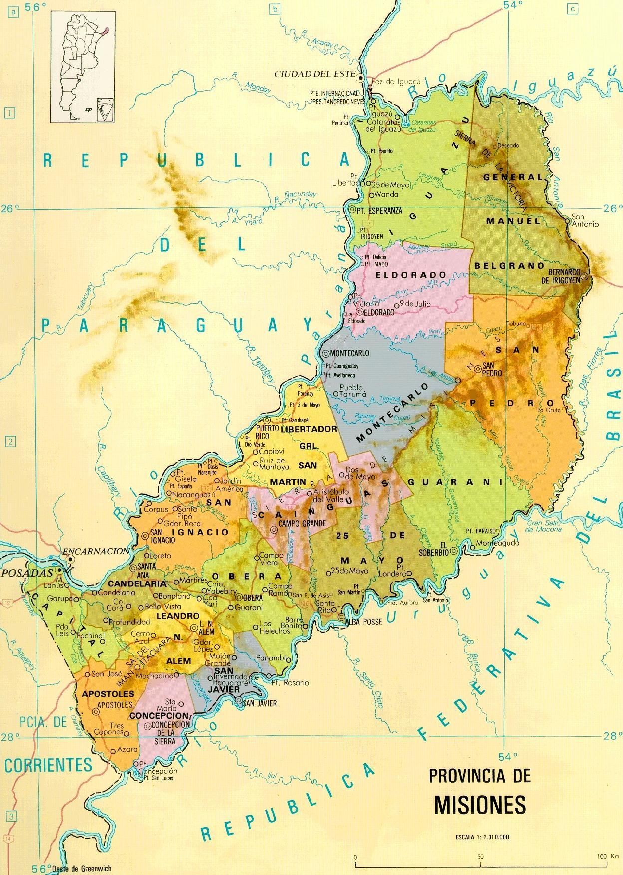 Mapas Fisicos y Politicos Prov. Argentinas HD
